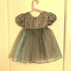 Little Mass Baby Party Dress 100% Silk 6 Months